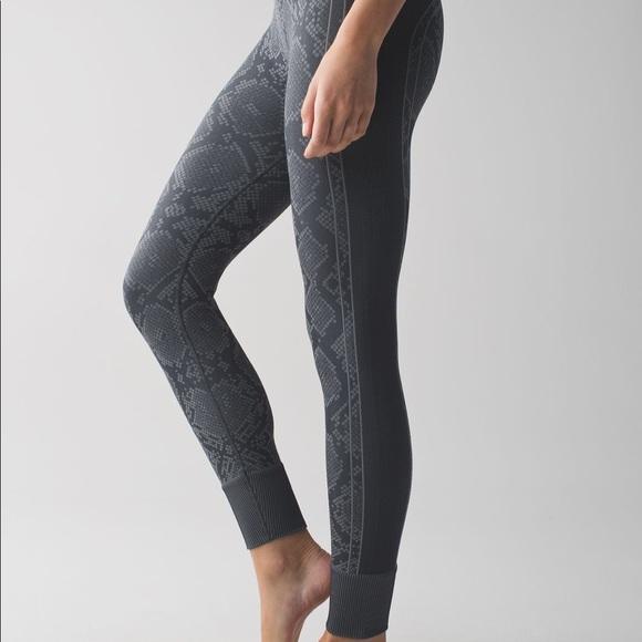 ba55bef20 lululemon athletica Pants - Lululemon ebb to street snake print leggings  yoga